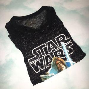 Star Wars Tops - Star Wars Semi Sheer Black Top Size Small
